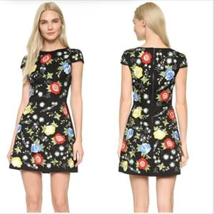 Alice and Olivia dress floral embroidery New Girl